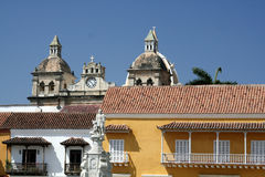 Architektur Cartagena-de Indias. Kolumbien Lizenzfreies Stockbild