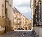 Architektur der alten Stadt Olomouc, Tschechische Republik lizenzfreie stockbilder