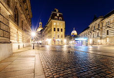 Architektur in der alten Stadt von Dresden am Abend deutschland Lizenzfreie Stockfotos
