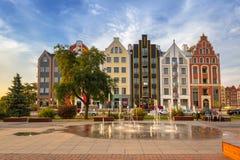 Architektur der alten Stadt von Elblag, Polen lizenzfreies stockfoto