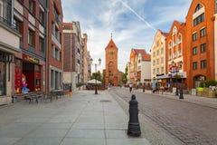 Architektur der alten Stadt von Elblag, Polen stockfotos