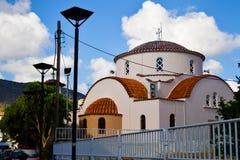 Architektur der kleinen griechischen Kirche auf Kreta Katholische Kirche in Griechenland stockbild