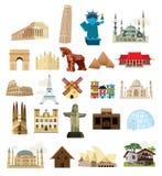 Architektur der Reise auf der ganzen Welt lizenzfreie abbildung