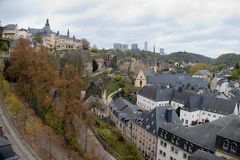 Architektur in der Stadt von Luxemburg Stockfoto