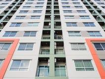 Architektur der Wohnung außerhalb des Hintergrundes Stockfotografie