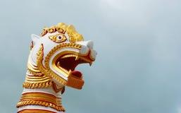 Architektur des birmanischen Löwes Lizenzfreies Stockbild