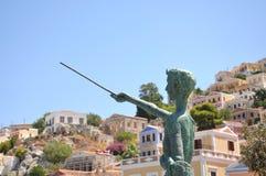 Architektur des griechischen Dorfs Lizenzfreies Stockfoto