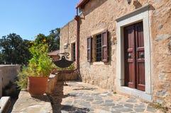 Architektur des griechischen Dorfs Lizenzfreie Stockbilder