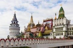 Architektur des Izmailovo der Kreml in Moskau stockbilder
