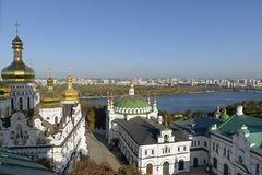 Architektur des Kiews-Pechersk Lavra, Kiew, Ukraine lizenzfreie stockbilder