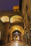 Architektur des Marktplatzes Maggiore im Bologna stockbilder
