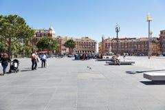 Architektur des Platzes Massena, allgemeine Ansicht, Nizza Lizenzfreie Stockfotos