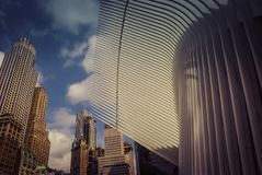 Architektur des World Trade Center Oculusï-¼ Œ NewYorkYork lizenzfreies stockbild