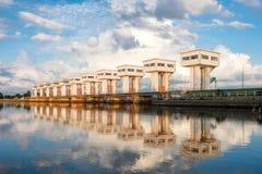 Architektur, die schöne prasit Utho Wipat Schleusentoren an errichtet Stockfotografie