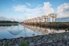 Architektur, die schöne prasit Utho Wipat Schleusentoren errichtet Lizenzfreies Stockbild