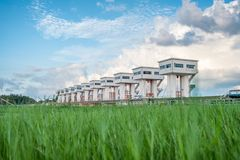 Architektur, die schönes prasit Utho Wipat Schleusentoren ove errichtet Lizenzfreie Stockfotografie