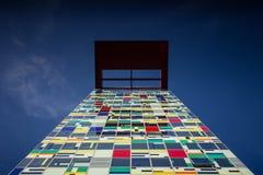 Architektur in Dusseldorf-Hafen stockbild