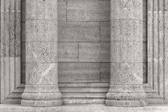 Architektur, Elemente und Details des Gebäudes Schwarzes und wh lizenzfreies stockbild
