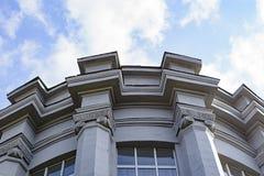 Architektur Errichtende Design-Architektur Klassische Kissen Design und Muster Architektur mit Stein Nah oben aufbauen Stockbild