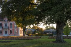 architektur fasady i budynków szczegóły w dziejowym mieście Zdjęcia Royalty Free