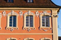 architektur fasady i budynków szczegóły w dziejowym mieście Obraz Royalty Free