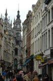 Architektur im historischen Teil von Brüssel, Belgien stockbild