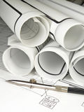 Architektur-Lichtpausen Lizenzfreie Stockfotos