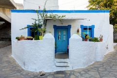 Architektur in Lipsi-Insel, Dodecanese, Griechenland lizenzfreie stockfotografie