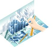 Architektur-Modell Stockbild