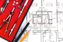 Architektur narzędzia i plan Fotografia Stock