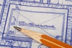 Architektur-Pläne Lizenzfreie Stockfotografie