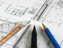 Architektur-Projekt Stockfoto