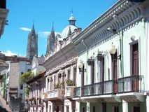 Architektur Quito-, Ecuador stockfoto