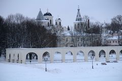 Architektur in Schnee sieben stockbild