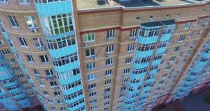 Architektur, Straßen und Wohnungen von der Luft in Moskau stock footage