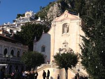 Architektur in Taormina Sizilien Italien im Winter Lizenzfreie Stockfotografie