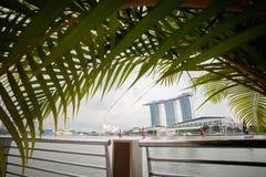 Architektur um Marina Bay Singapore lizenzfreies stockfoto