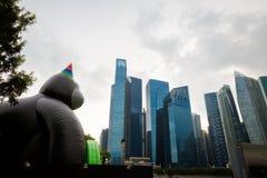 Architektur um Marina Bay Singapore lizenzfreie stockfotografie