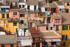Architektur in Vernazza Lizenzfreie Stockfotografie