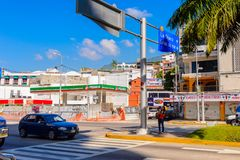 Architektur von Acapulco, Mexiko Lizenzfreie Stockfotografie