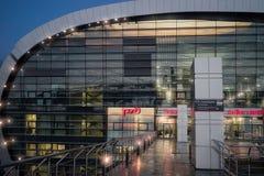Architektur von Adler-Bahnstation Stockfoto