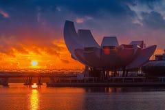 Architektur von Art Science Museum morgens Stockfoto
