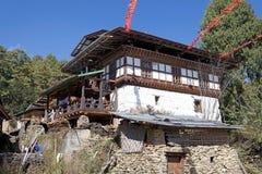 Architektur von Bhutan Lizenzfreies Stockbild