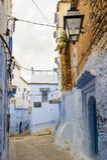 Architektur von Chefchaouen, Marokko lizenzfreies stockbild