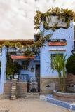 Architektur von Chefchaouen, Marokko lizenzfreie stockfotos