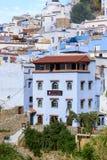Architektur von Chefchaouen, Marokko stockbild
