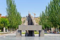 Architektur von Eriwan, Armenien Lizenzfreie Stockfotos