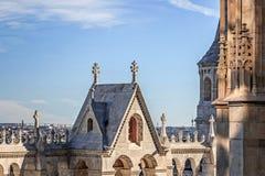 Architektur von Fischer ` s Bastion in Budapest Stockfoto