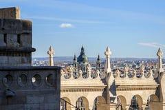 Architektur von Fischer ` s Bastion in Budapest Stockfotografie