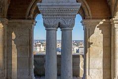 Architektur von Fischer ` s Bastion in Budapest Lizenzfreie Stockbilder